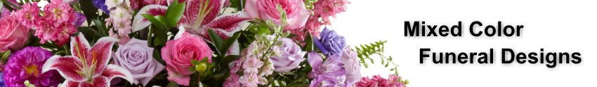 Funeral and Sympathy flowers in mixed colors