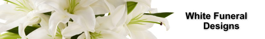 White Funeral and Sympathy flowers - all designs