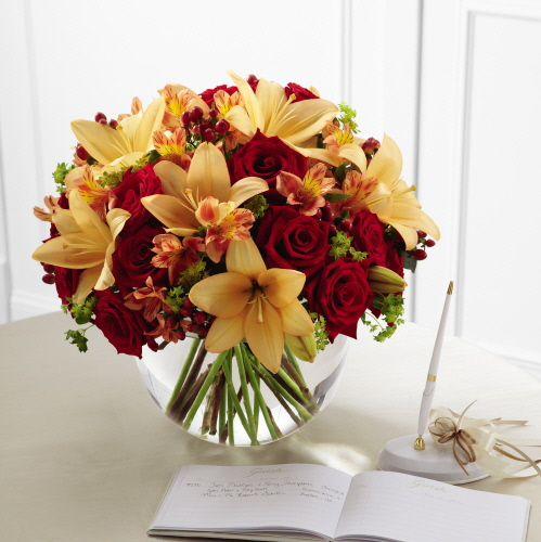 Wedding Flowers Omaha Ne: Lily & Rose Arrangement