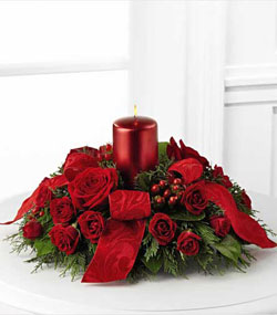 Season's Glow Red Centerpiece