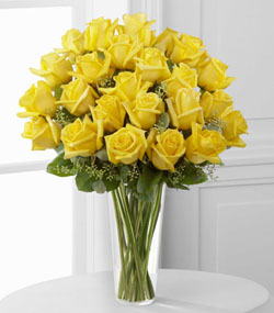 24 Yellow Roses Arrangement