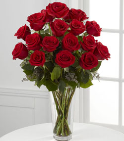 18 Red Roses Arrangement