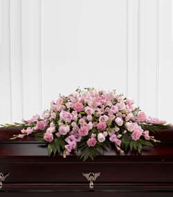 Sweetly Rest Casket Spray