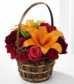 Harvest Blooms Basket