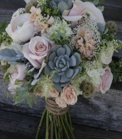 Succulent and Roses
