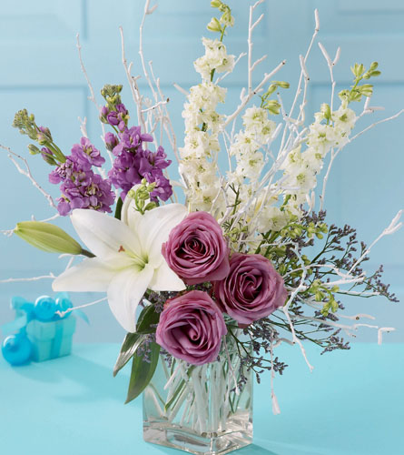 Janousek florist tropical ftds burst of light bouquet purple burst of light bouquet mightylinksfo