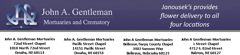John A Gentleman Mortuaries flower delivery